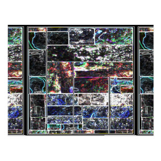 KOOLshades BLACK Abstract GRAPHIC Design Postcard