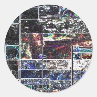 KOOLshades BLACK Abstract GRAPHIC Design Round Sticker