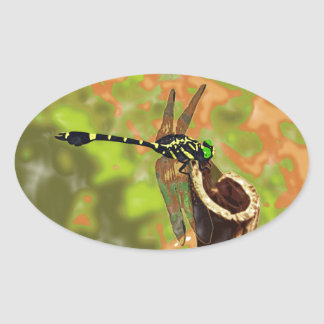 kooniyanma dragonfly oval sticker