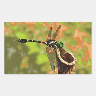 kooniyanma dragonfly rectangular sticker