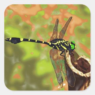 kooniyanma dragonfly square sticker