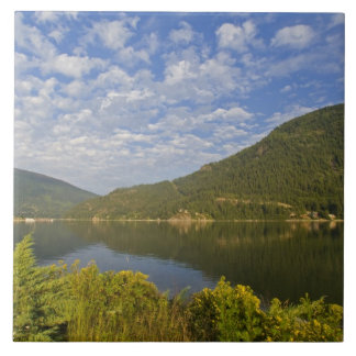 Kootenay Lake in Nelson British Columbia Large Square Tile