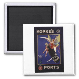 Kopke's Ports Vintage Ad Square Magnet