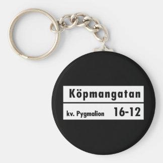 Köpmangatan, Stockholm, Swedish Street Sign Keychain