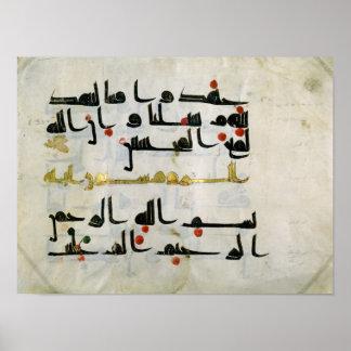 Koran, 9th century, Abbasid caliphate Poster