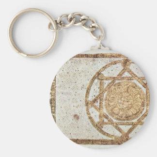 Koran Cover By Syrischer Maler Um 900 Basic Round Button Key Ring