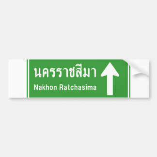 Korat Ahead ⚠ Thai Highway Traffic Sign ⚠ Bumper Sticker