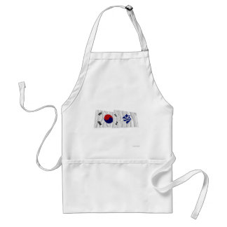 Korea and Pusan Waving Flags (variant) Standard Apron