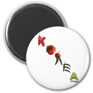 Korea Chili Peppers 6 Cm Round Magnet