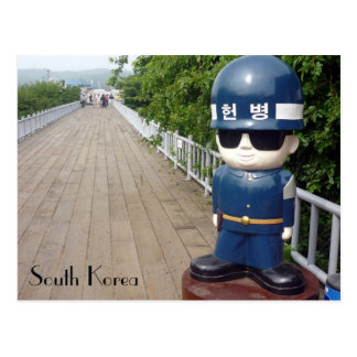 korea dmz bridge postcard