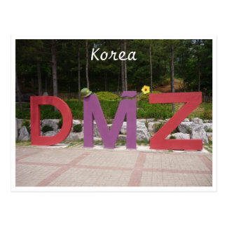 korea dmz postcard