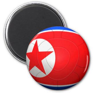 Korea DPR 조선민주주의인민공화국  Football 6 Cm Round Magnet