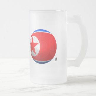Korea DPR 조선민주주의인민공화국  Football Frosted Glass Mug