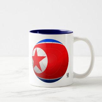 Korea DPR 조선민주주의인민공화국  Football Two-Tone Mug