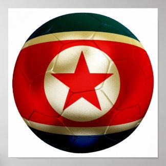 Korea DPR Football Poster