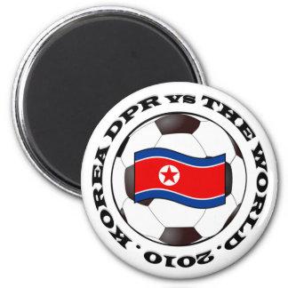 Korea DPR vs The World 6 Cm Round Magnet