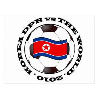 Korea DPR vs The World Postcard
