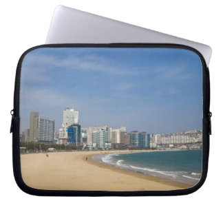 Korea, Gyeongsangnam-do, Busan, Haeundae beach Laptop Sleeve