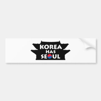 Korea Has Seoul Bumper Sticker