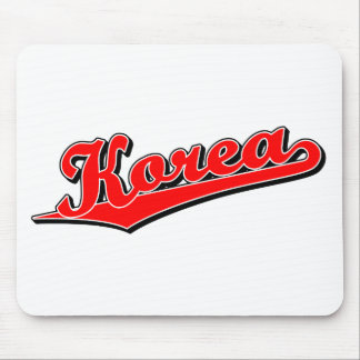 Korea in Red Mouse Pad