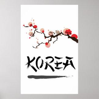 Korea Ink vintage travel poster. Poster