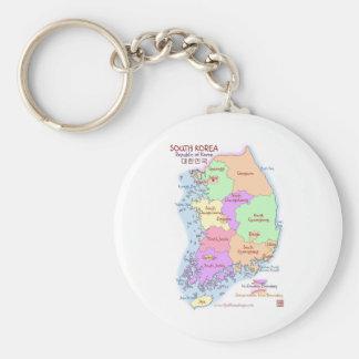 Korea Map Keychain