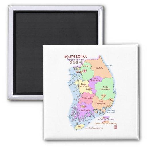 Korea Map Magnet