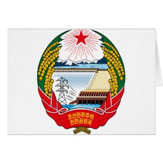 korea north emblem card