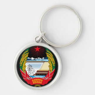 korea north emblem keychain