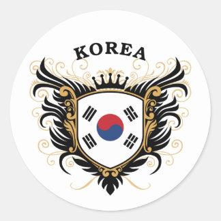 Korea Round Sticker