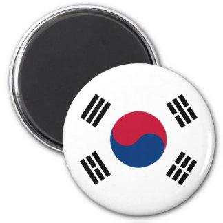 korea south 6 cm round magnet