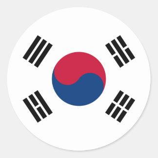 korea south round sticker