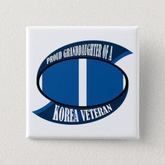 Korea Vet Granddaughter 15 Cm Square Badge