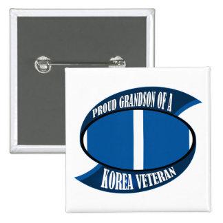 Korea Vet Grandson 15 Cm Square Badge