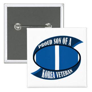 Korea Vet Son 15 Cm Square Badge