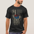 Korean American Flag Grunge T-Shirt