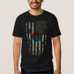 Korean American Flag Grunge T-shirts