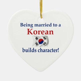 Korean Builds Character Ceramic Heart Decoration