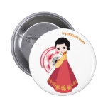 Korean dancer button