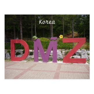 korean dmz post card