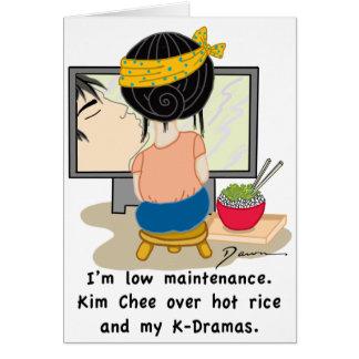 Korean Drama Queen™ Branded Card-Low Maintenance