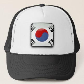 Korean glossy flag trucker hat