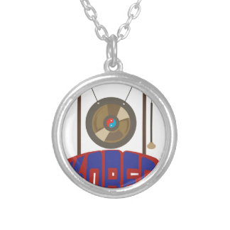 Korean Gong Round Pendant Necklace