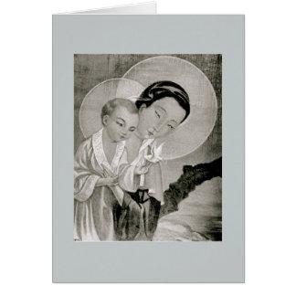 Korean Holy Mary & Jesus Card