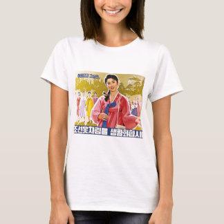 Korean Ladies Wearing Hanbok T-Shirt