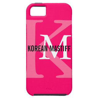Korean Mastiff Monogram Tough iPhone 5 Case