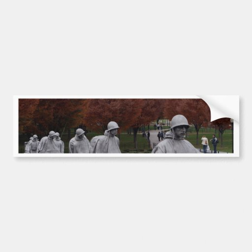 Korean Memorial and Lincoln Memorial Fall Bumper Stickers