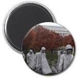 Korean Memorial and Lincoln Memorial Fall Magnets