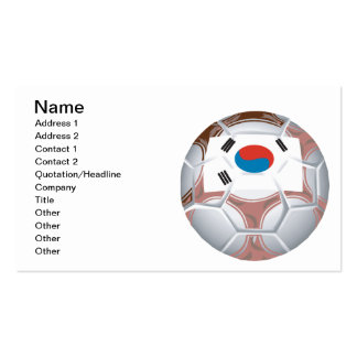 Korean Soccer Double-Sided Standard Business Cards (Pack Of 100)
