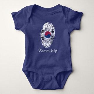 Korean touch fingerprint flag baby bodysuit